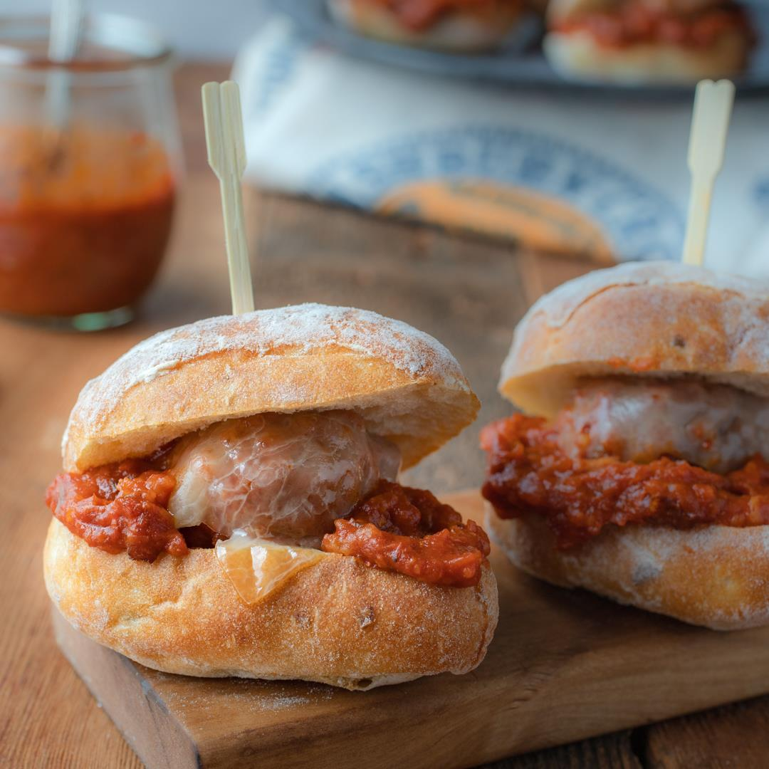 Porcupine Meatball Sliders