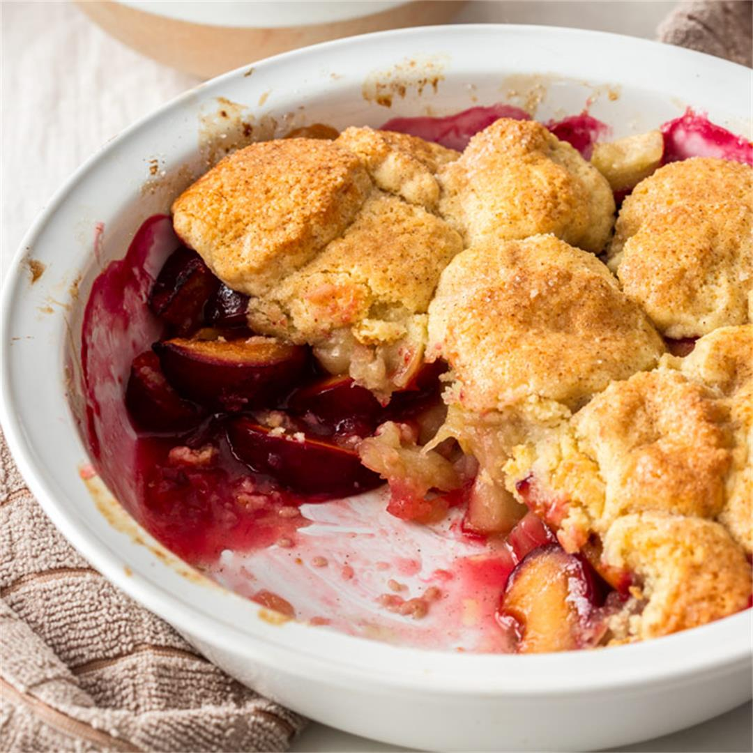 Apple and Plum Cobbler