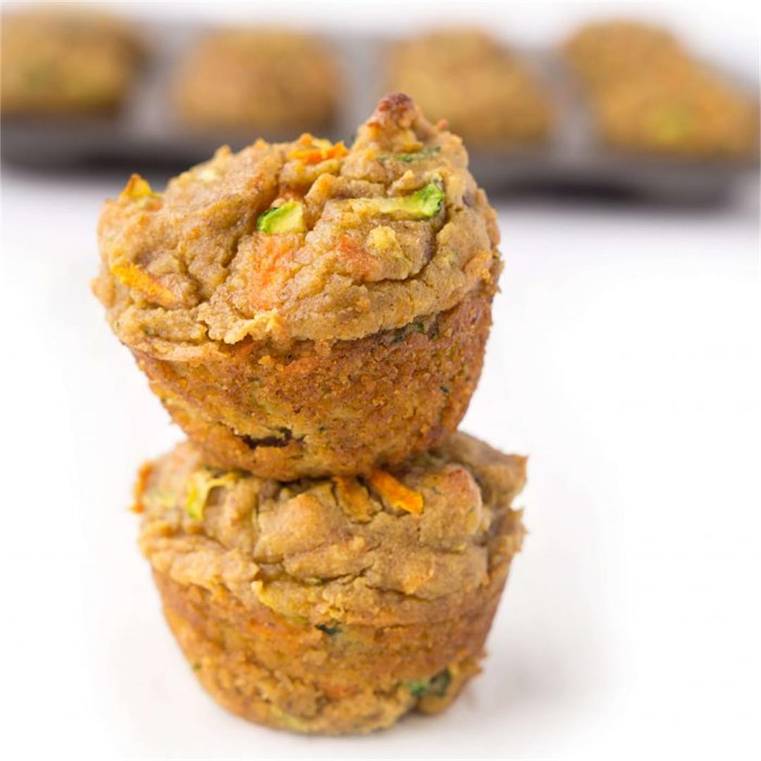 Healthy Mini Carrot Zucchini Muffins