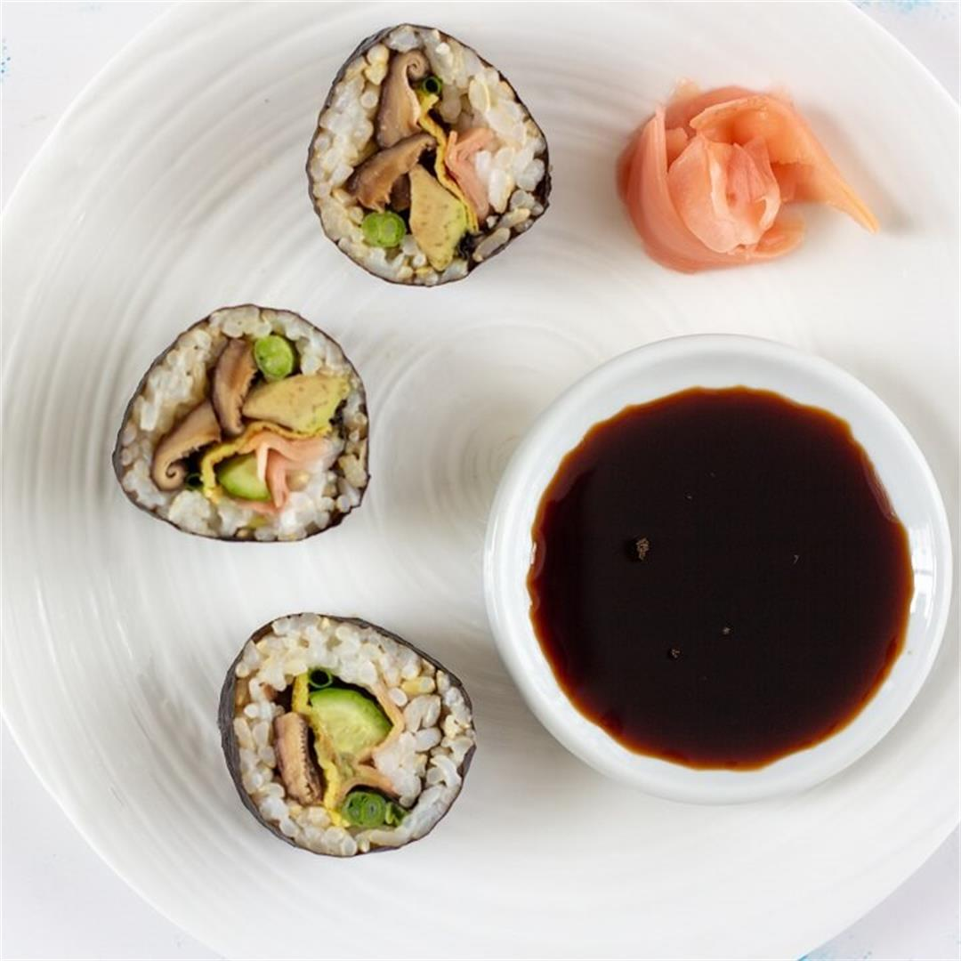 Shiitake Mushroom and Avocado Sushi