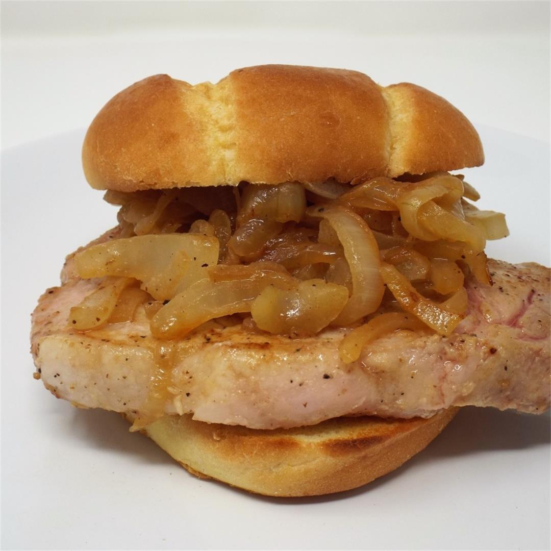 Chicago Style Pork Chop Sandwiches