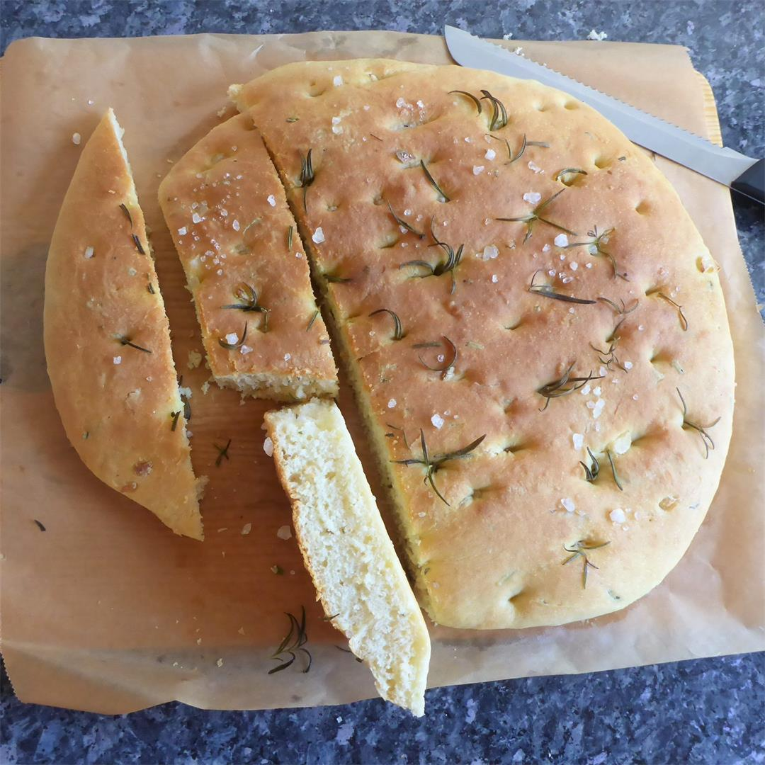 Rosemary Focaccia flavored with rosemary & mozzarella cheese