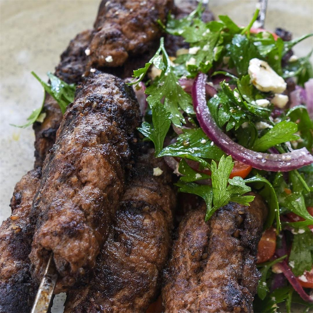 Grilled Lamb & Black Pudding Skewers