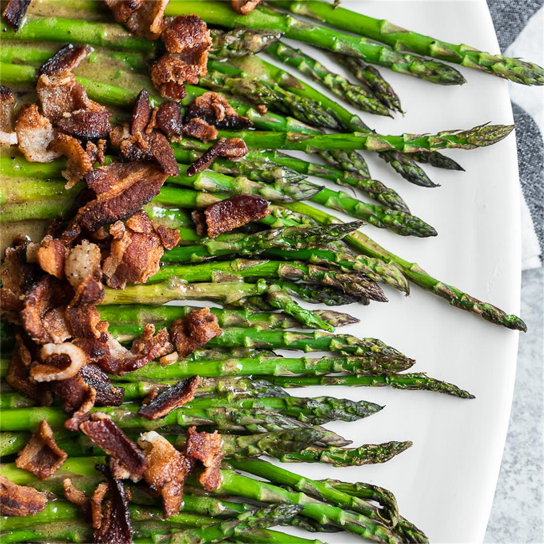 Maple Bacon Asparagus (Gluten Free, Paleo)