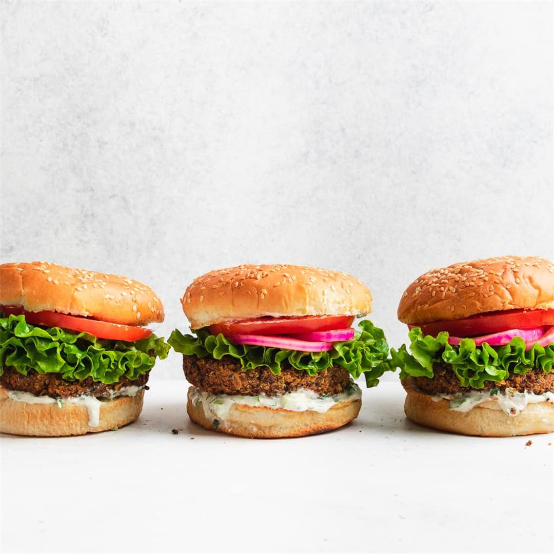 Chipotle Black Bean Burgers with Cashew Ranch Dressing