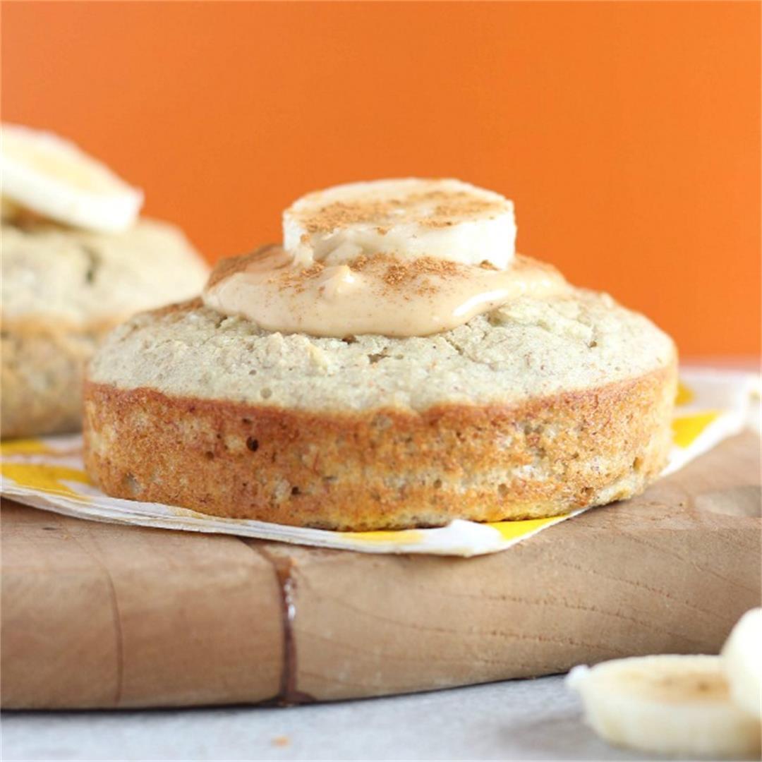 Sugarless Banana Bread Muffin for One