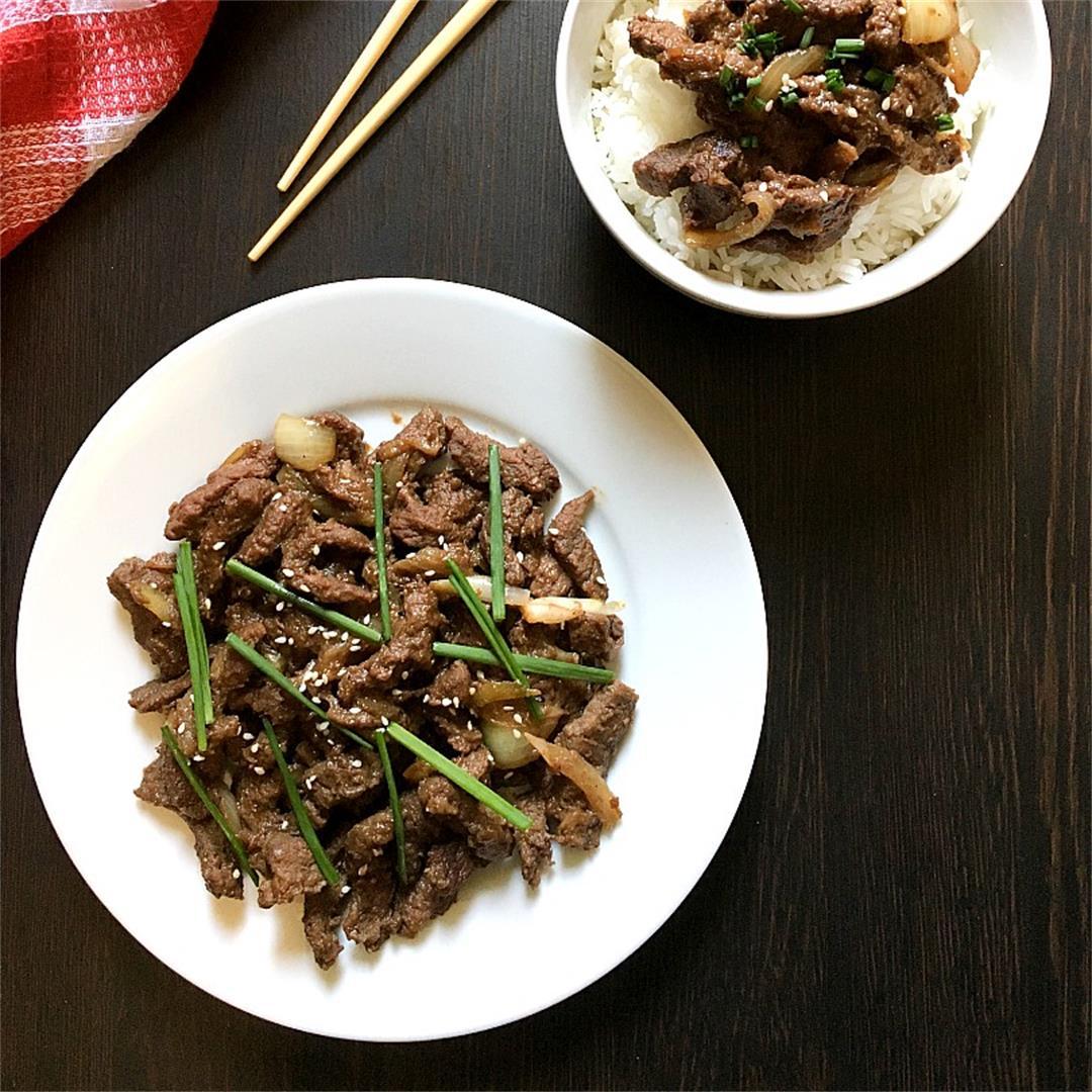 Beef Bulgogi Easy and Quick Pan Fried Recipe