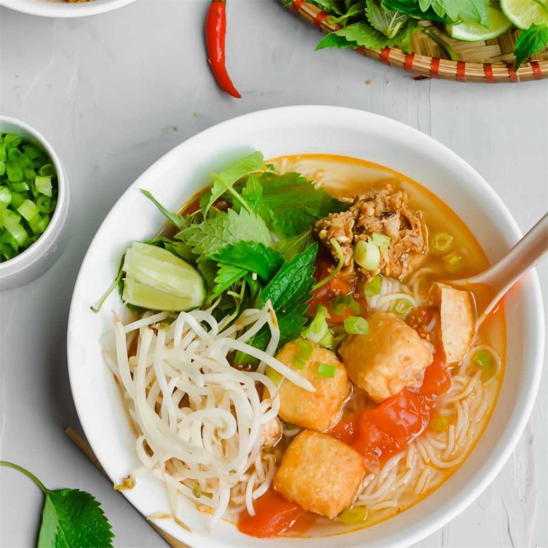 Instant Pot Vietnamese Crab Noodle Soup (Bun Rieu)