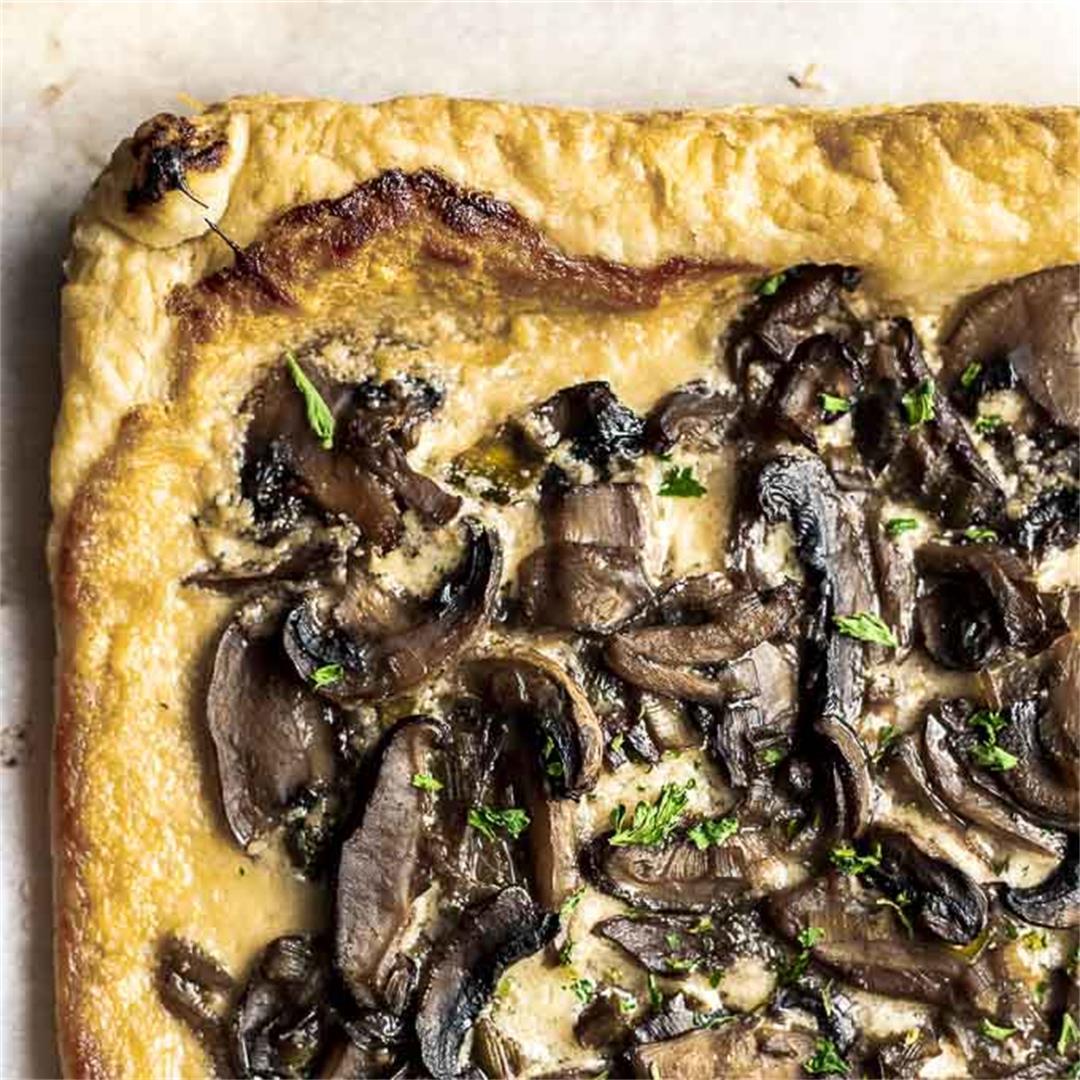 Leek and Mushroom Tart (Mushroom Pizza)