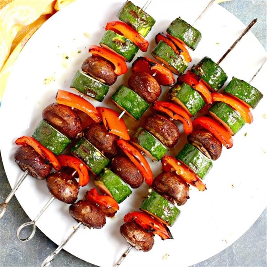 Vegetable Kebabs (Grilled Veggie Skewers)