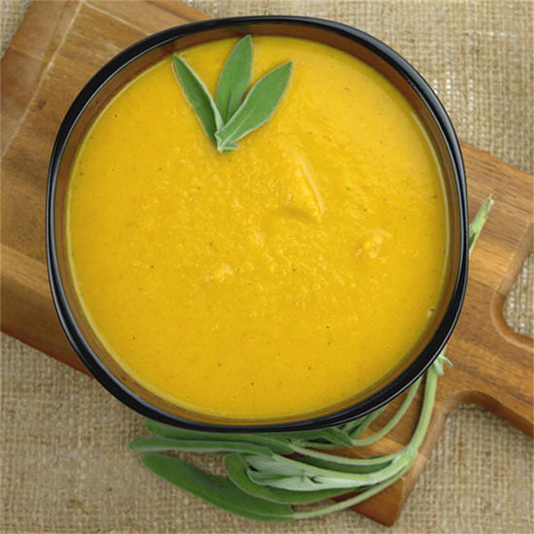 Roasted Squash Carrot Soup with Chicken – A Gourmet Food Blog
