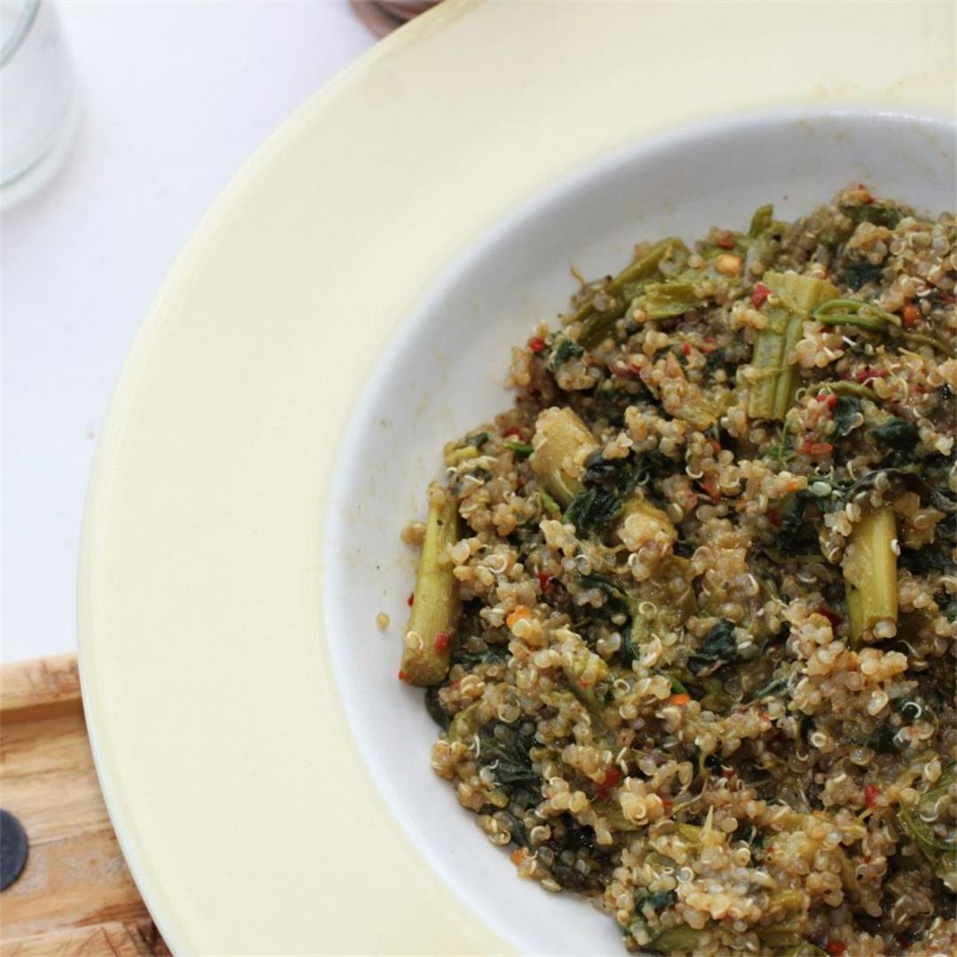 Spinach & Asparagus Quinoa Recipe