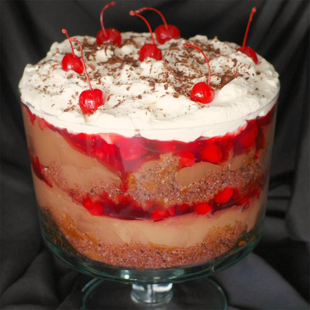 No Bake Black Forest Trifle
