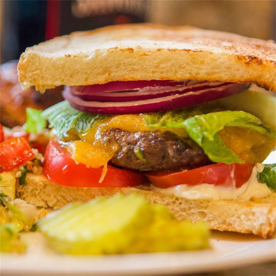 Gourmet Elk Burger Recipe (Grilled)