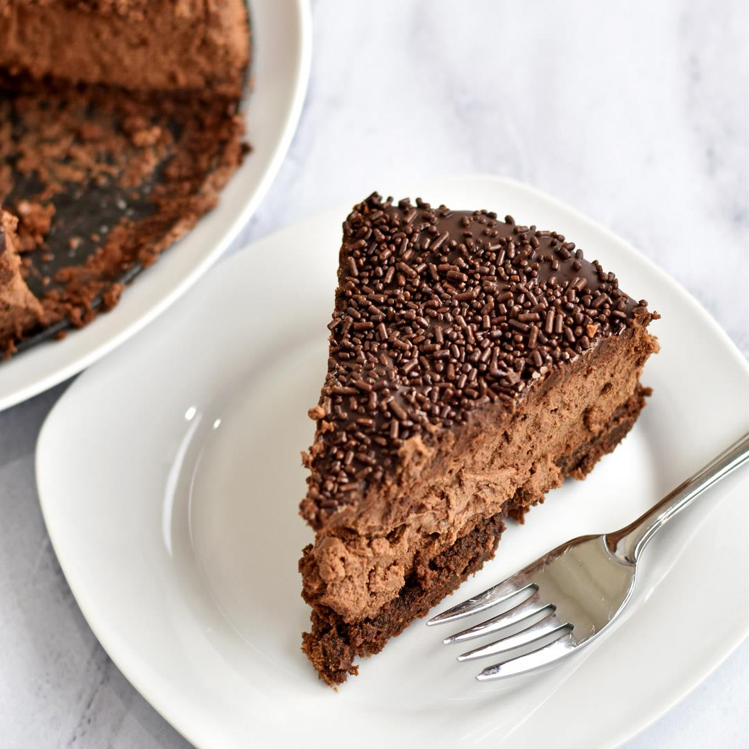 Chocolate Brownie Cheesecake {Gluten Free}