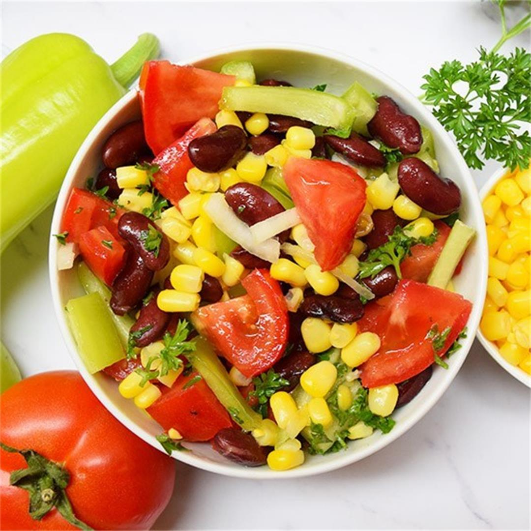 Red Beans Corn Salad Recipe