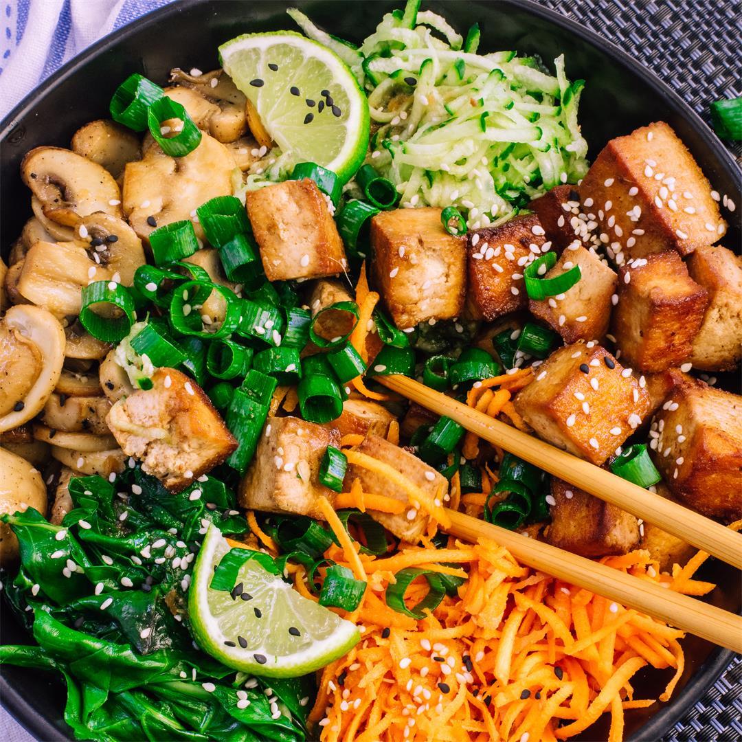 Vegan Bibimbap With Crispy Tofu