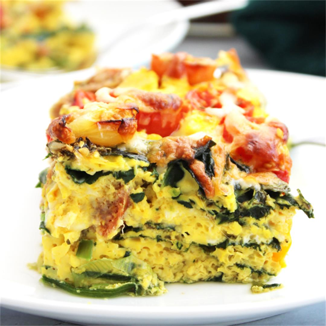 Breakfast Sausage Egg Bake Casserole
