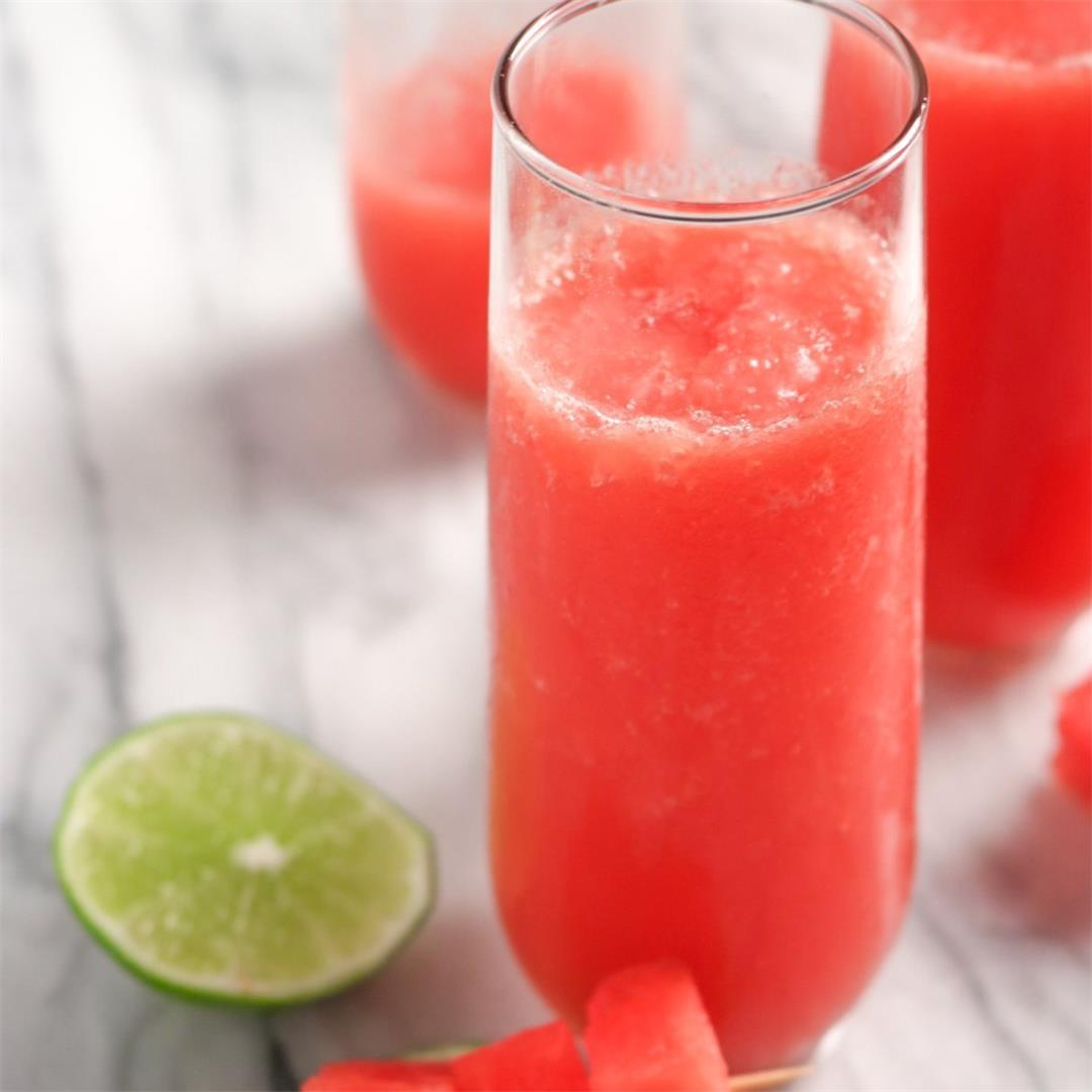 Watermelon and Cucumber Slushie