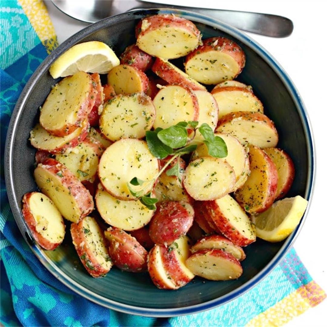 Greek Potato Salad (No Mayo)