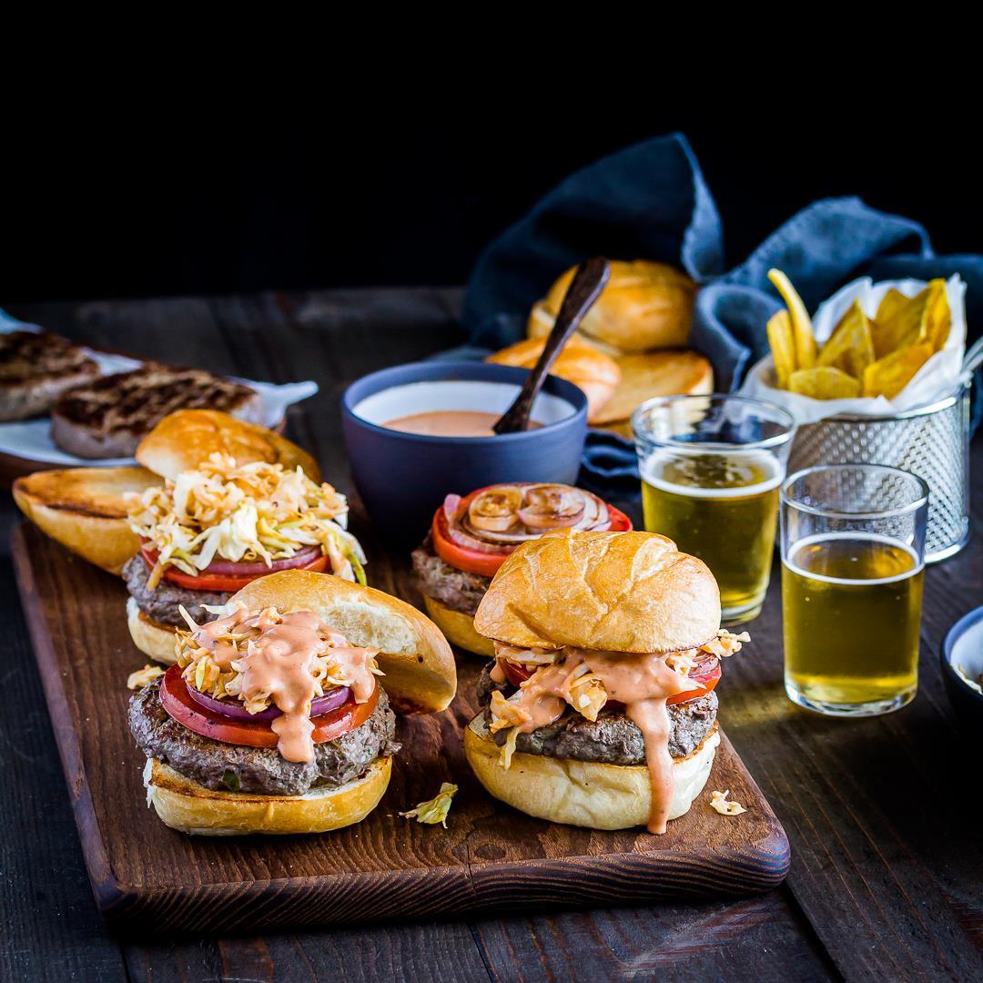 Dominican Chimichurri Hamburger