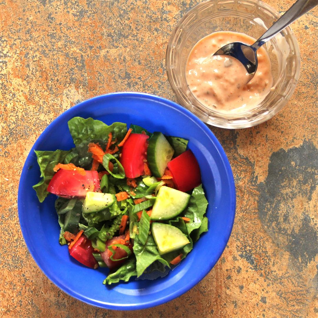 Meal-Prep House Salad & Homemade Thousand Island Dressing