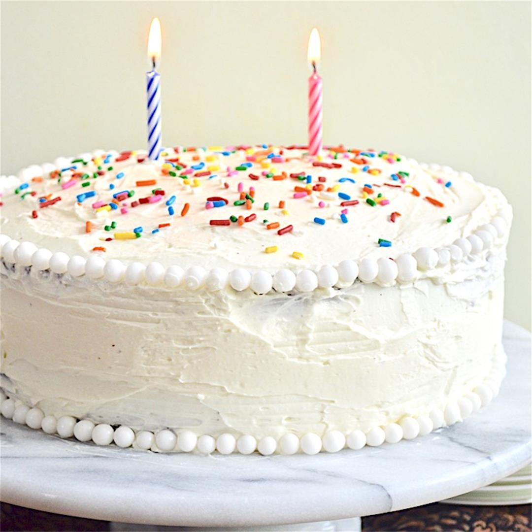 Classic Birthday Cake - Jeanie and Lulu's Kitchen
