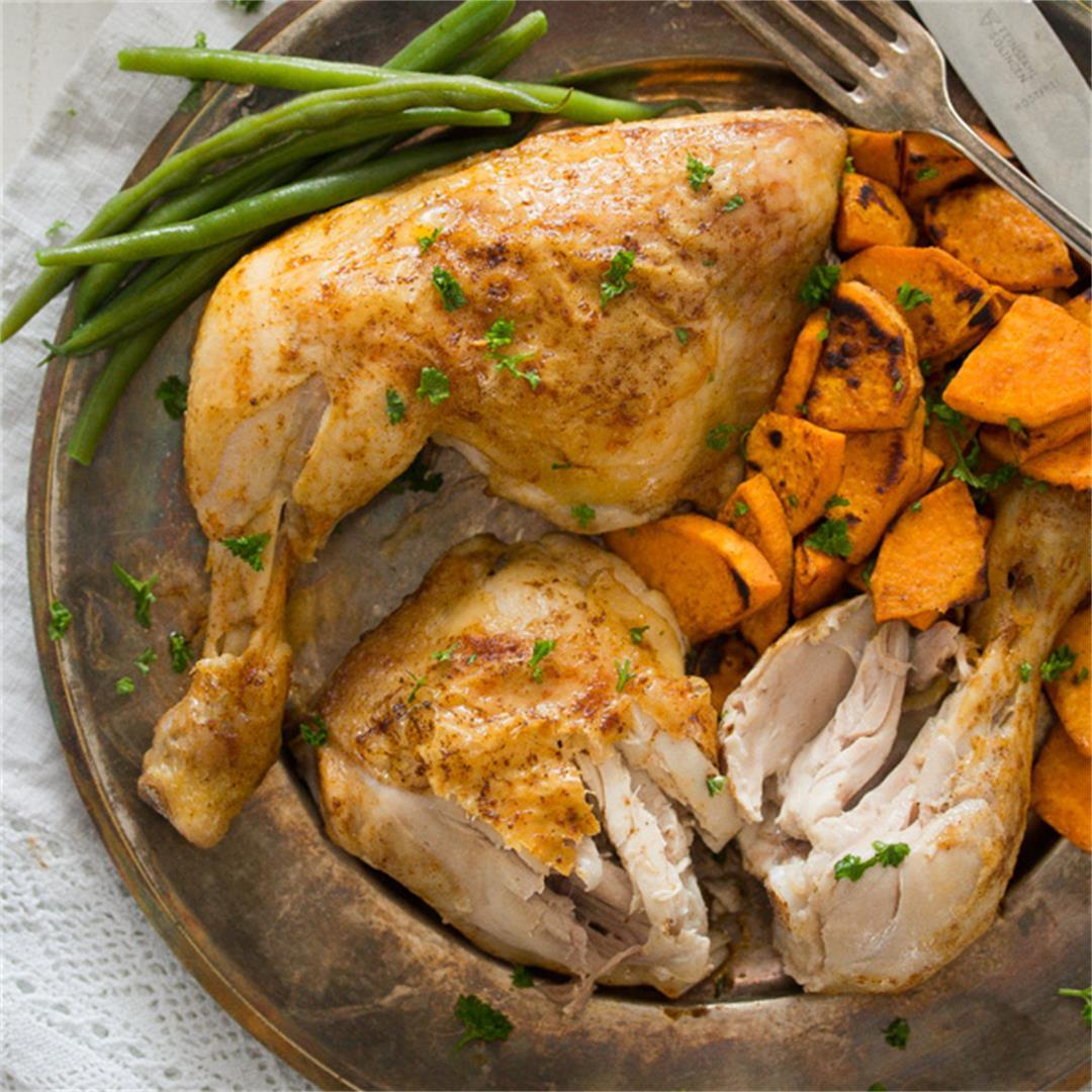 Roasted Chicken Leg Quarters – How to Bake Chicken Legs
