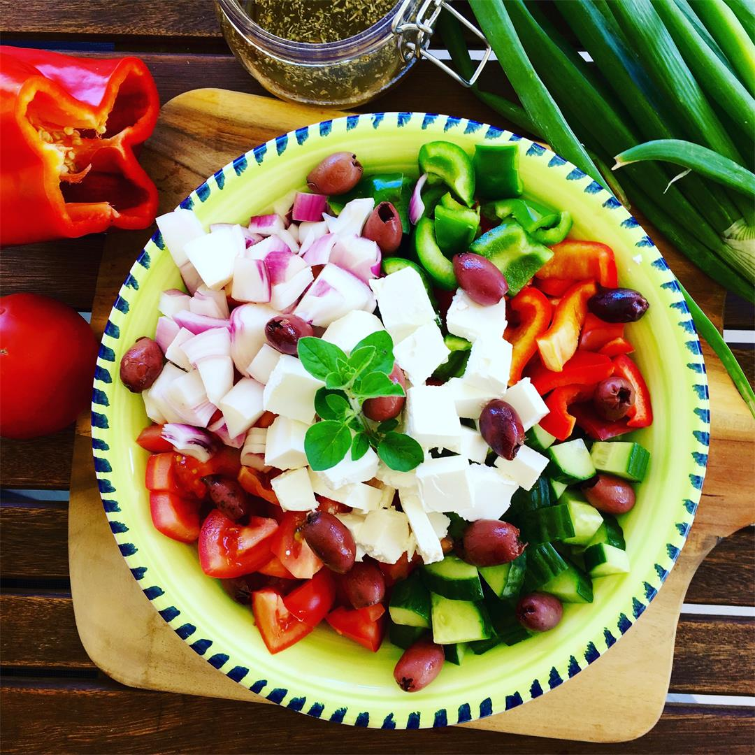 Greek Salad Recipe Made From Scratch
