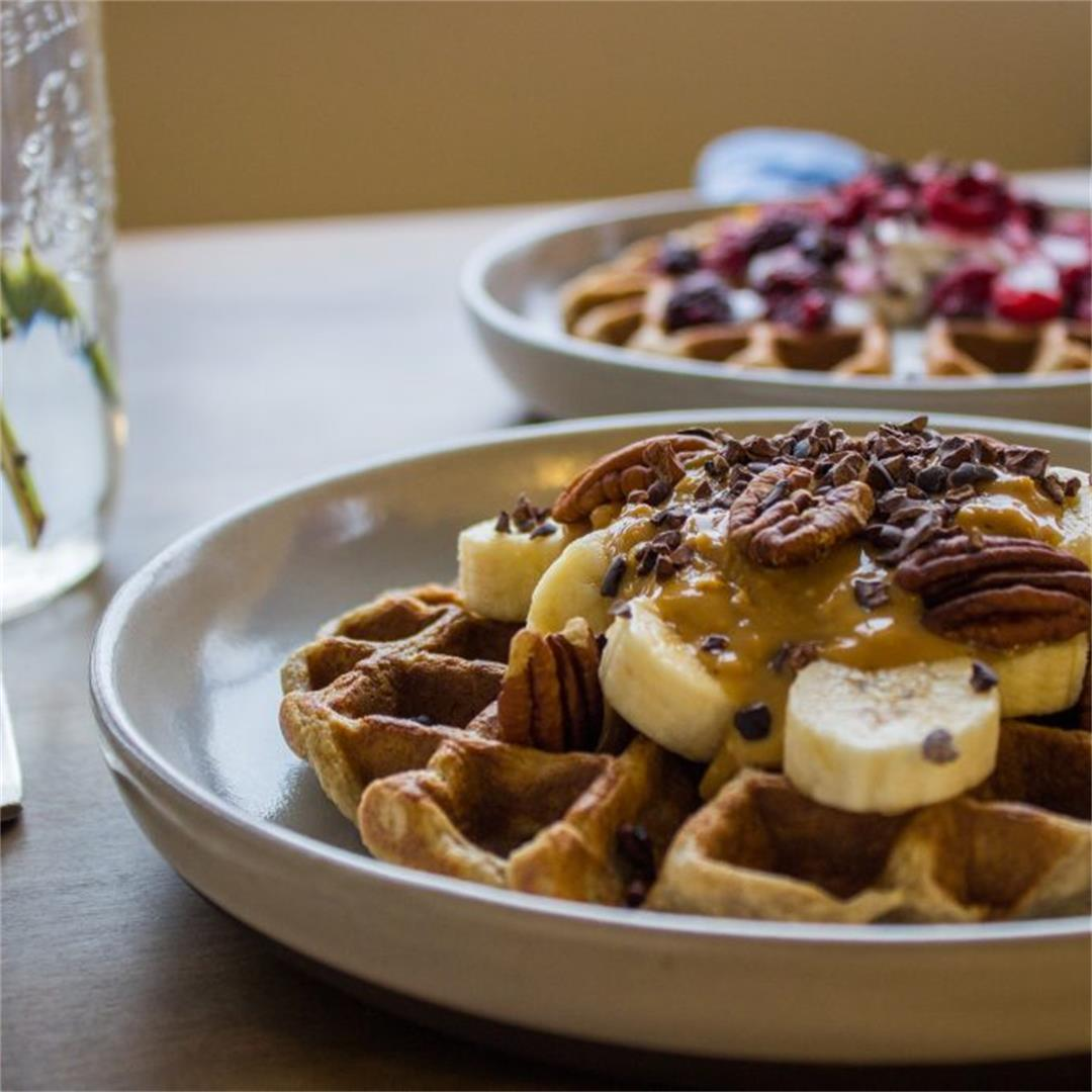 3 Ingredient Oatmeal Waffles (vegan + gf)