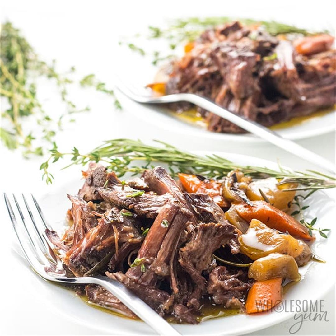 Keto Low Carb Pot Roast Slow Cooker Recipe (VIDEO)