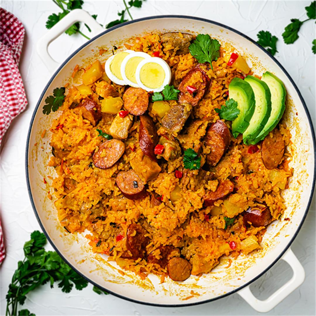 Colombian Pork and Sausage Risotto - Arroz Atollado