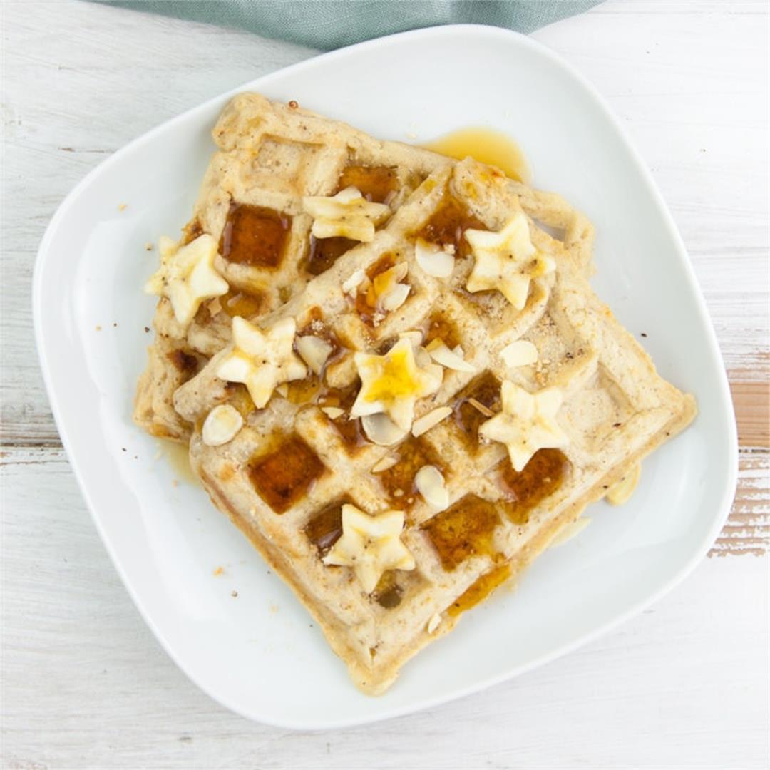Vegan Banana Bread Waffles