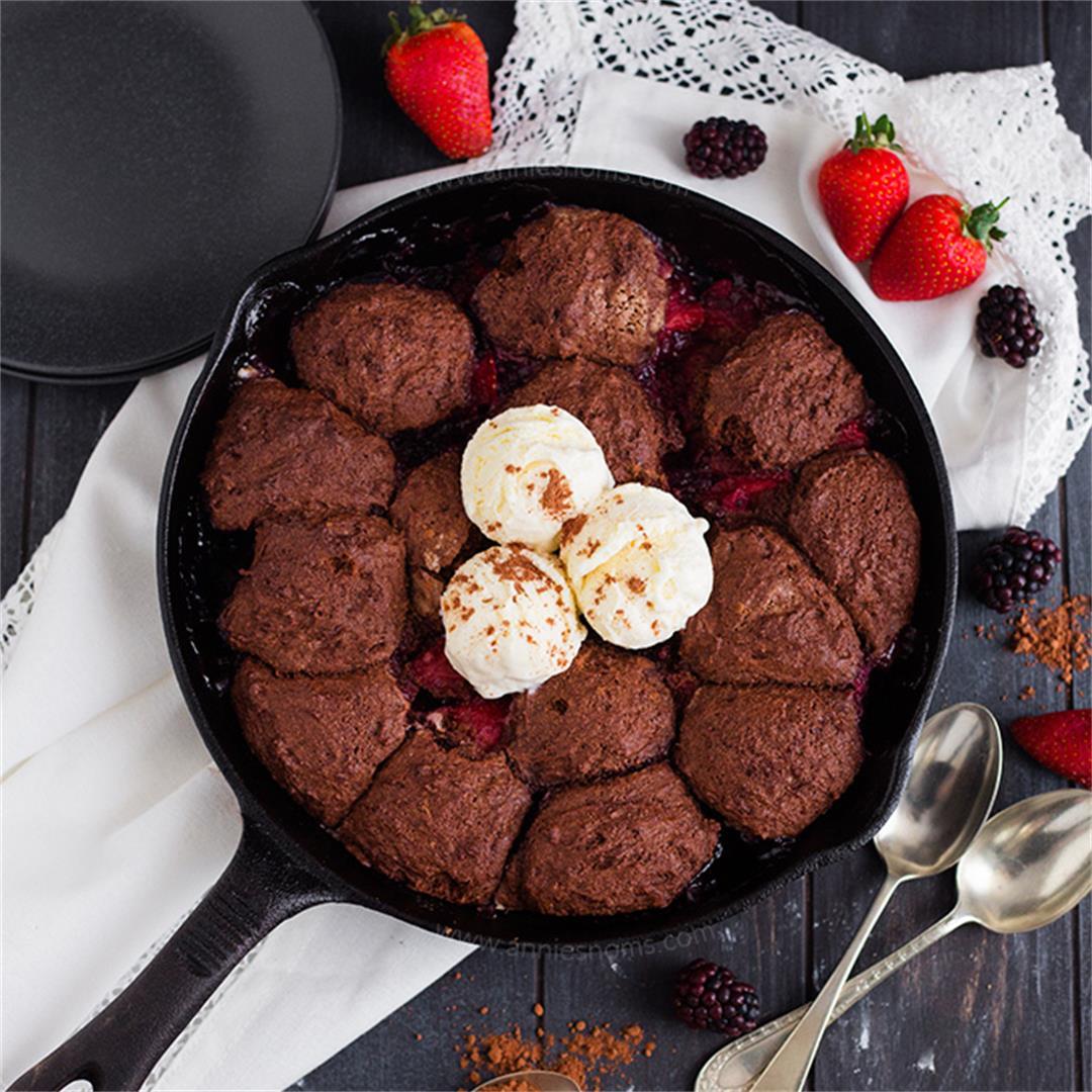 Chocolate Mixed Berry Cobbler