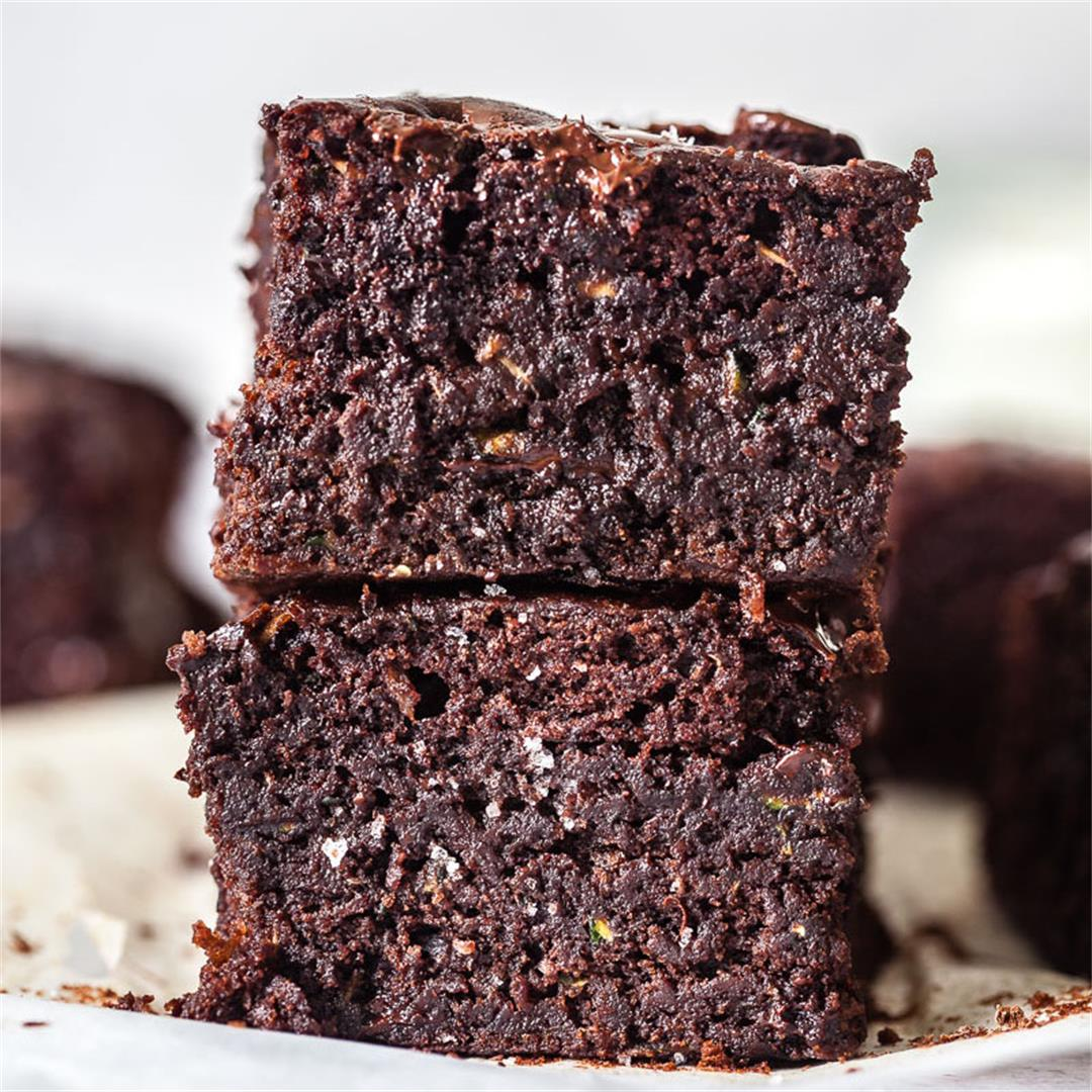 Vegan Chocolate Zucchini Brownies