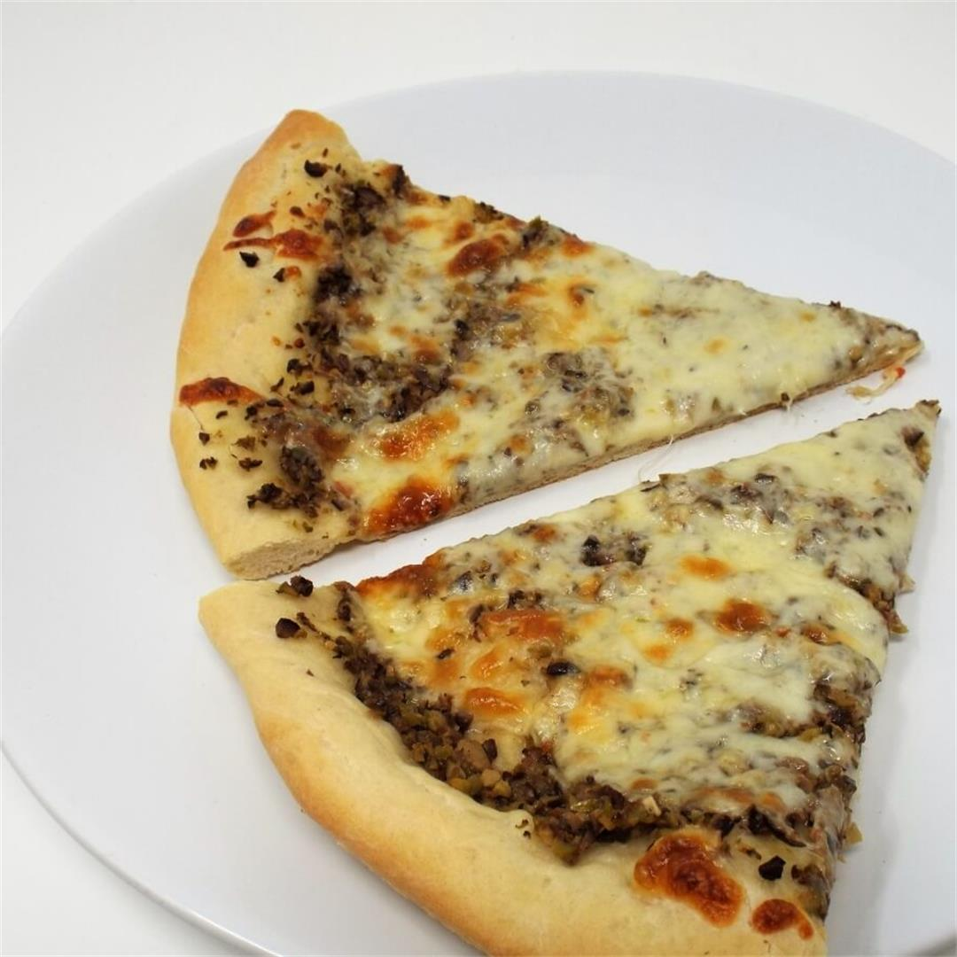 Mixed Olive Tapenade Pizza