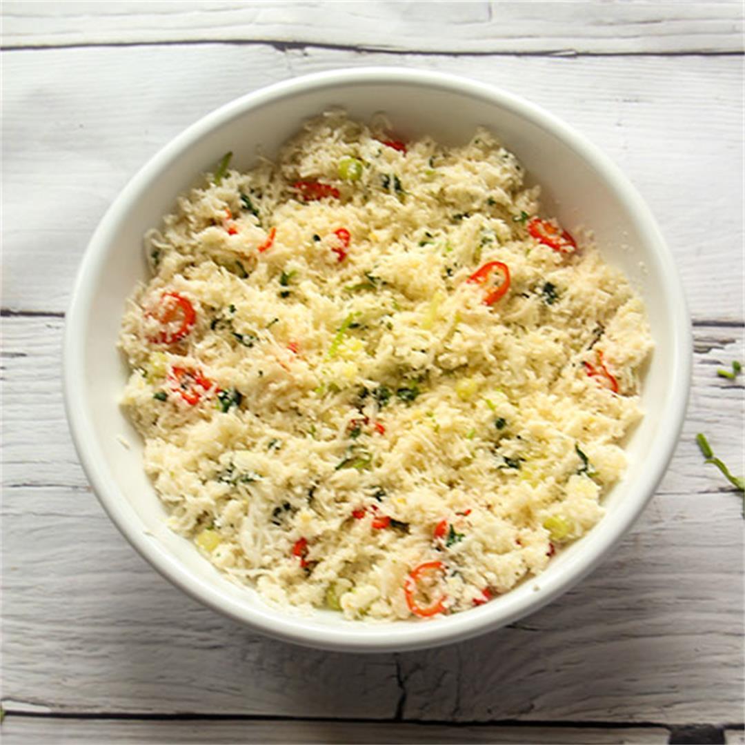 lemon cauliflower rice