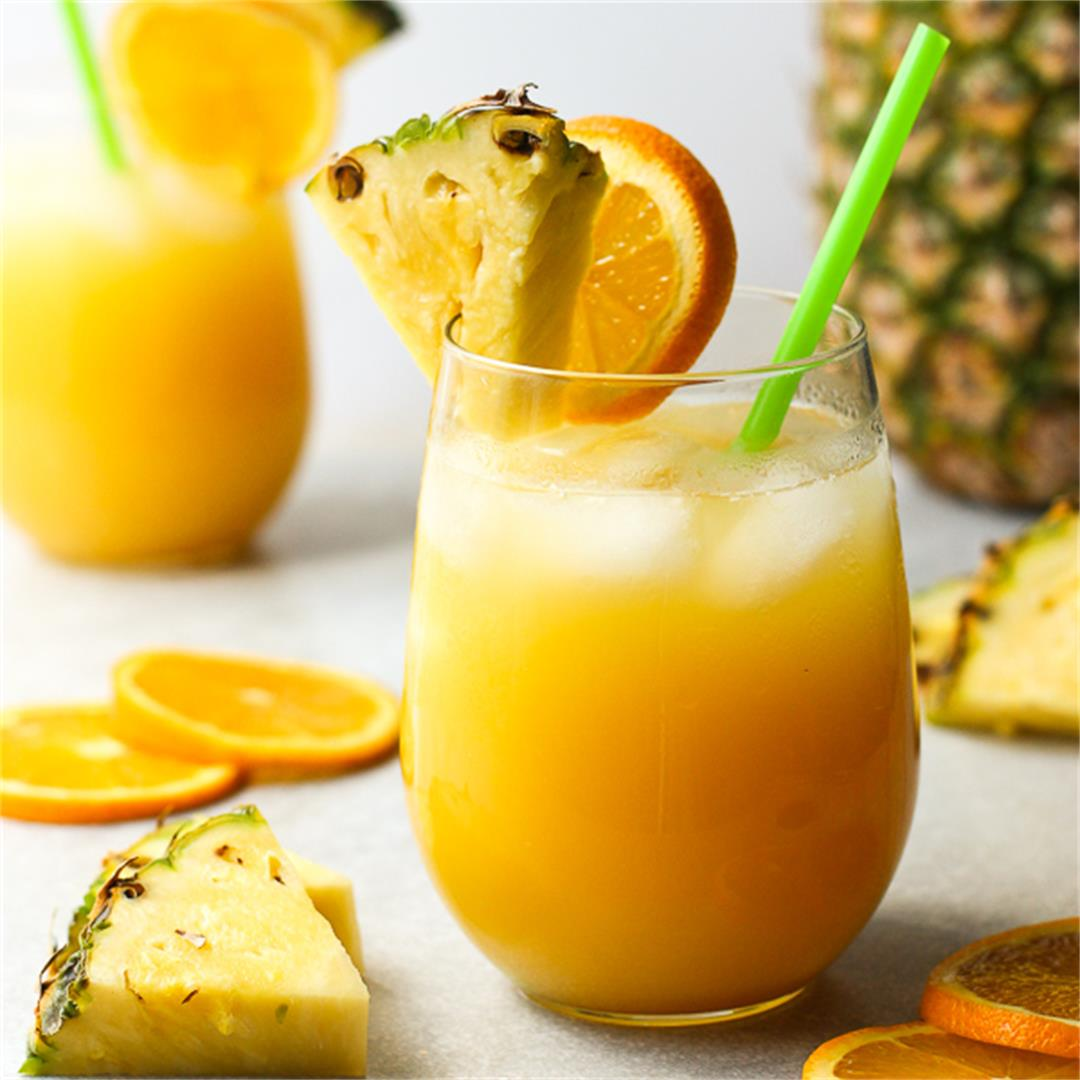 Pineapple Orange Coconut Rum Cocktail