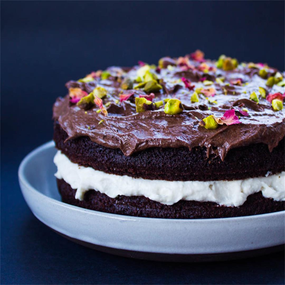 Chocolate Glop Cream Cake (vegan + gf)