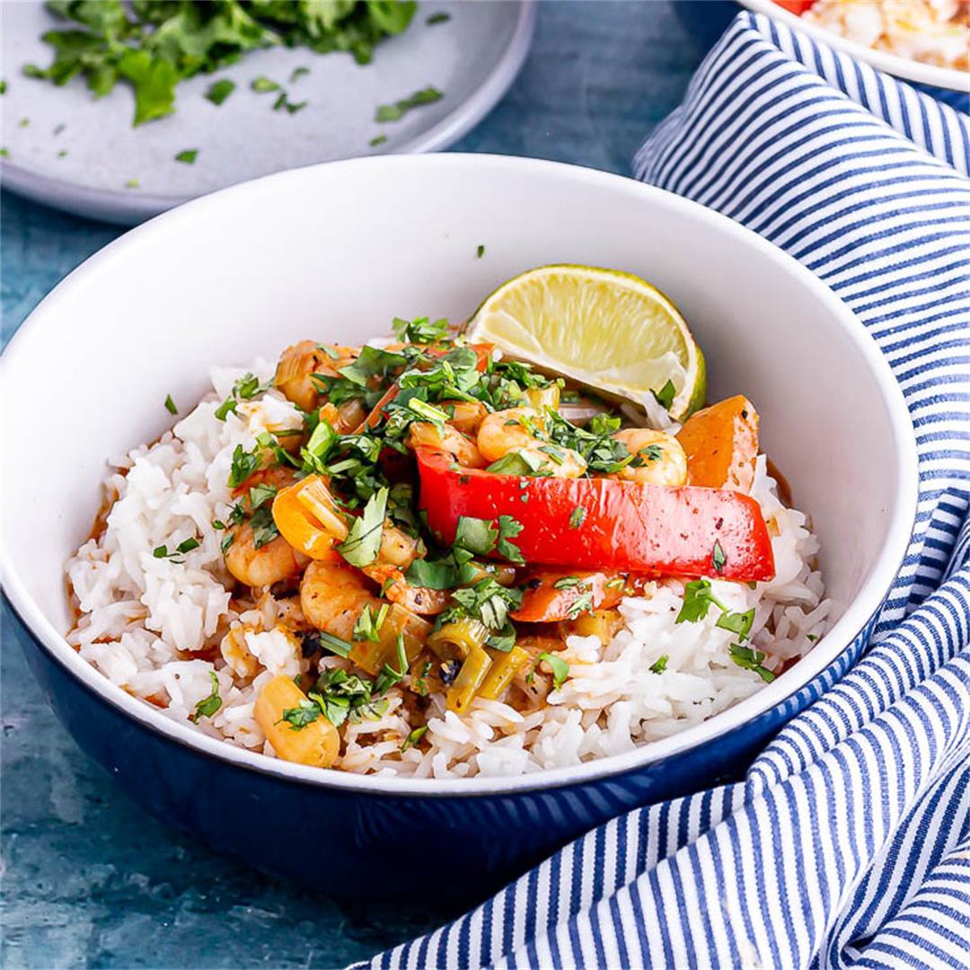 15 Minute Thai Prawn Curry
