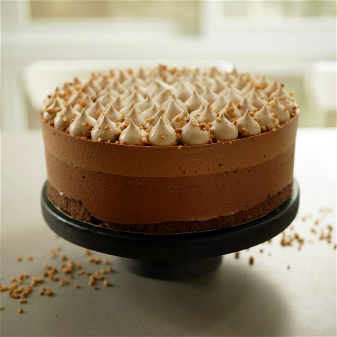 Gianduja Chocolate Mousse Cake