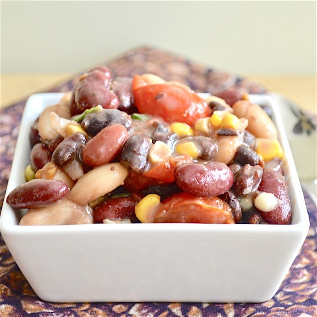 Summer Three Bean Salad - Jeanie and Lulu's Kitchen