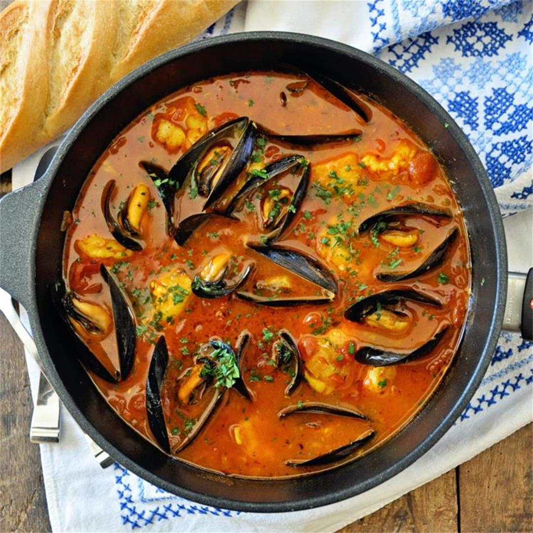 One-Pot Spicy Spanish Seafood Stew Recipe