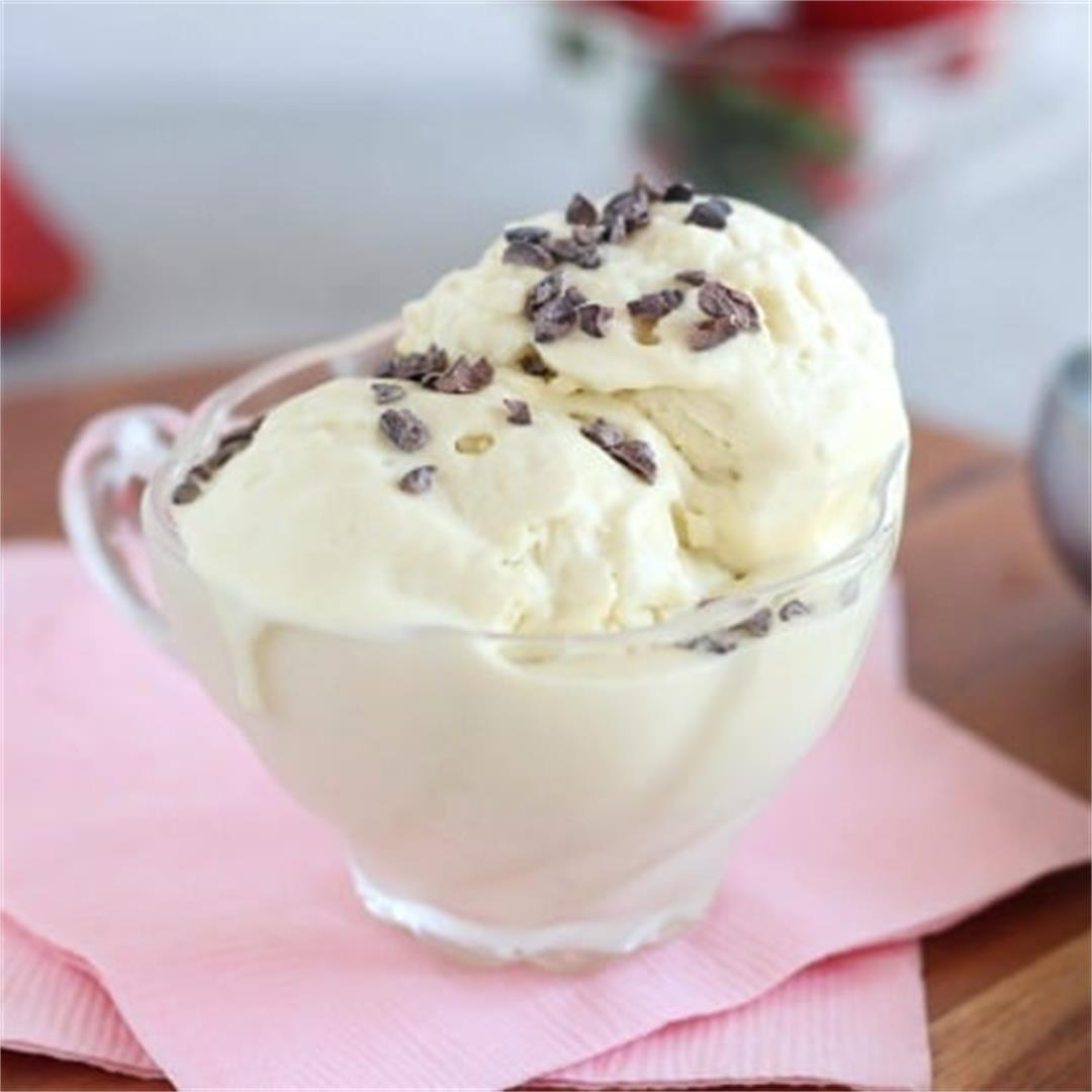Low Sugar, Dairy-Free Vanilla Ice Cream