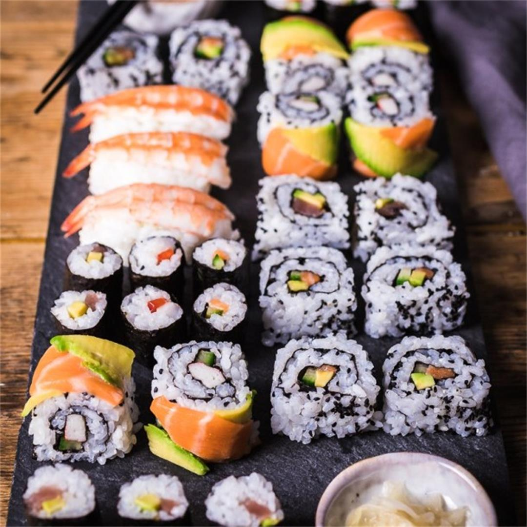 Sushi Rolls (Ultimate Step-by-Step Guide, Recipe Tips + Recipe