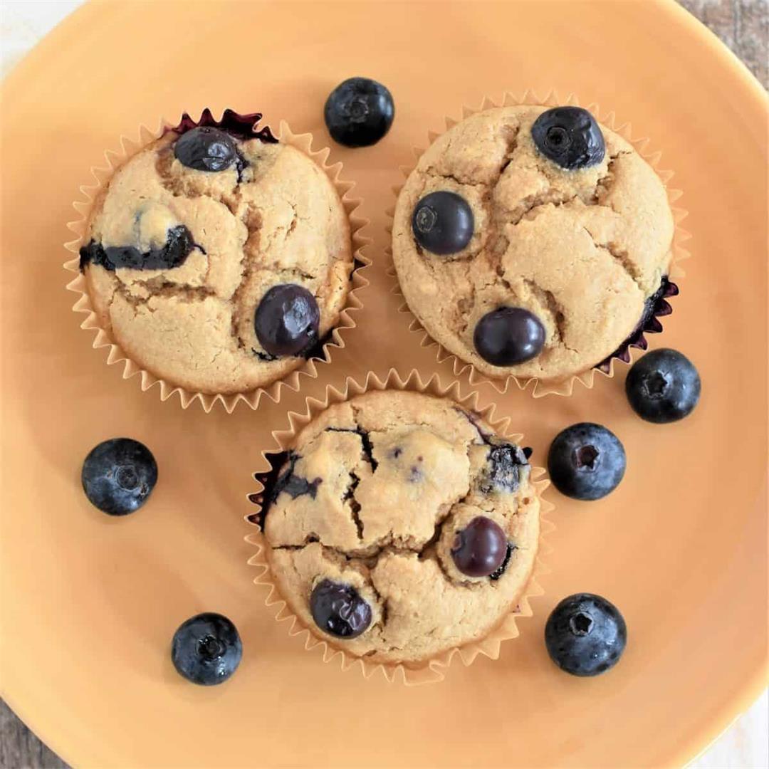 Gluten-Free & Vegan Blueberry Muffins