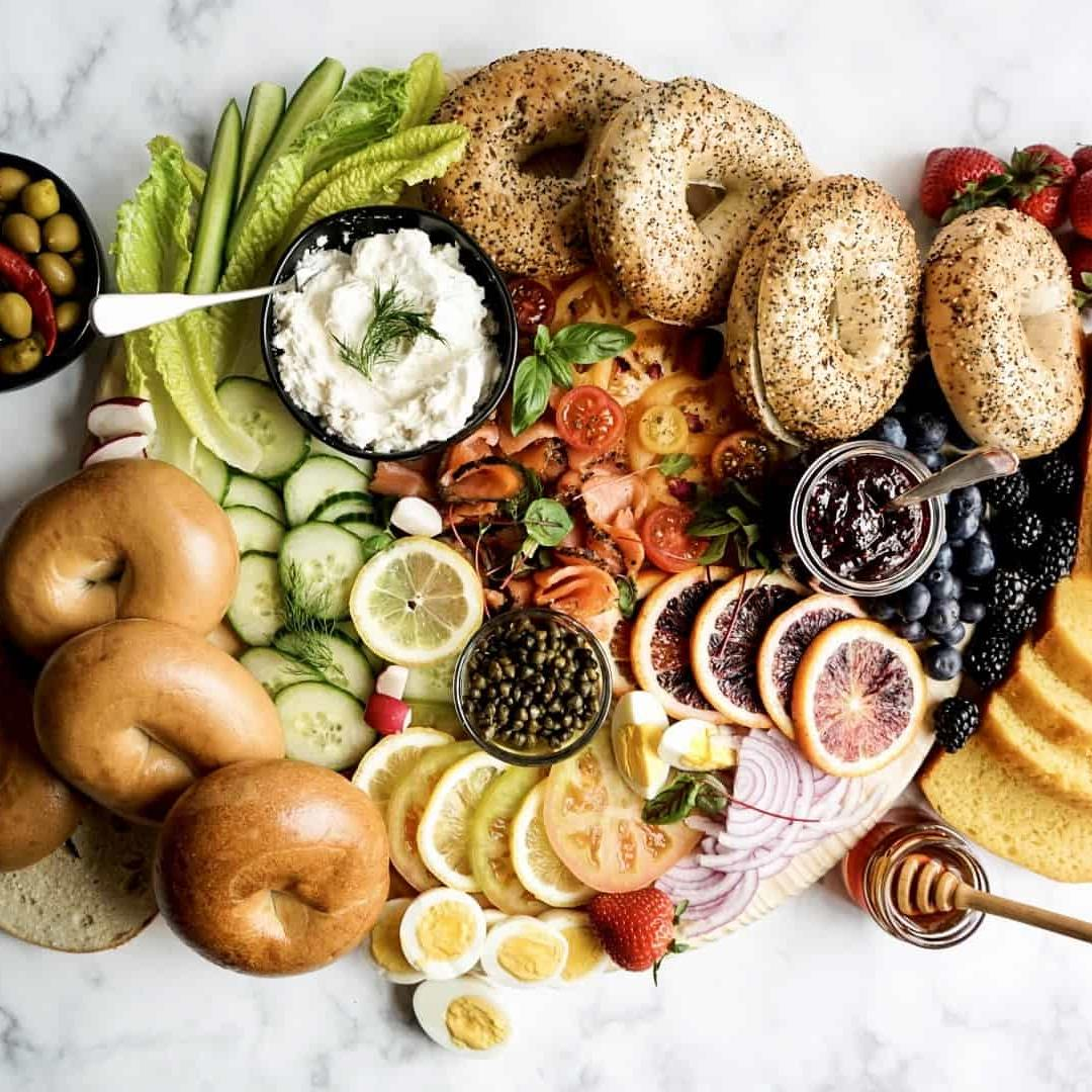 How to Build a Bagel Breakfast Board