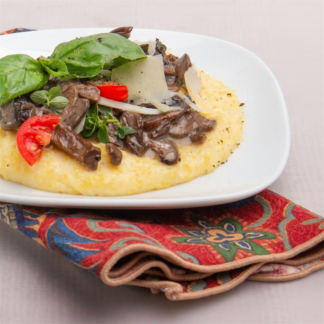 Creamy Polenta With Mushrooms