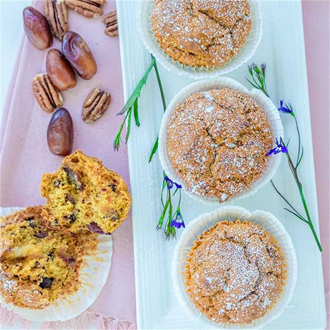 Grain-Free Date Pecan Muffin (Gluten-Free, Paleo)