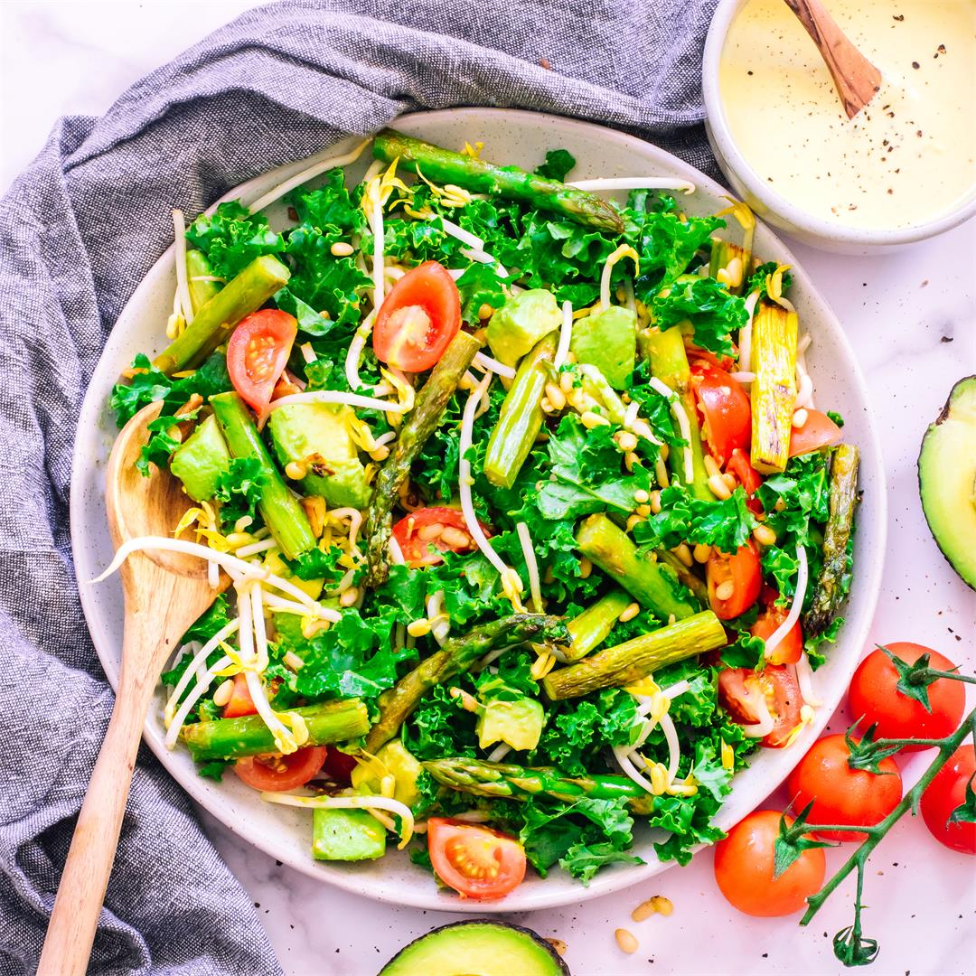 Asparagus Salad With Tahini And Mustard Dressing